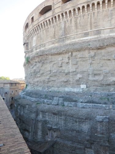 View of the Mauseoleum of Haddian from the curtain wall of the Castel Sant'Angelo, Rome