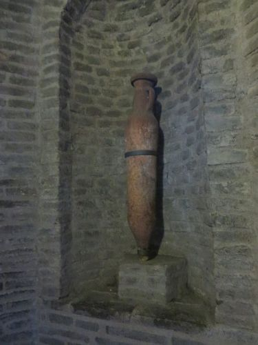 Late Roman amphora on display in the Castel Sant'Angelo, Rome