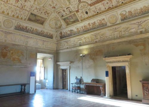 One of the papal chambers in the Castel Sant'Angelo, Rome