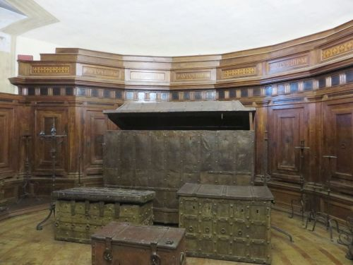 The Treasure Room in the Castel Sant'Angelo, Rome