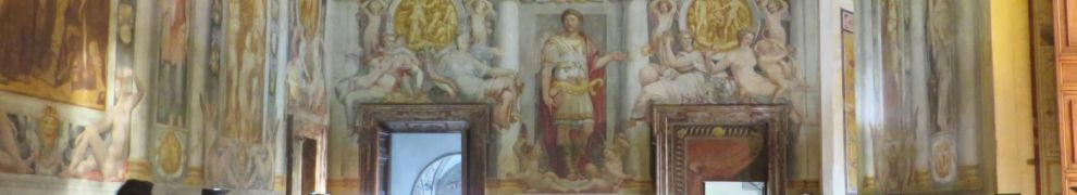 The papal throne-room in the Castel Sant'Angelo, Rome