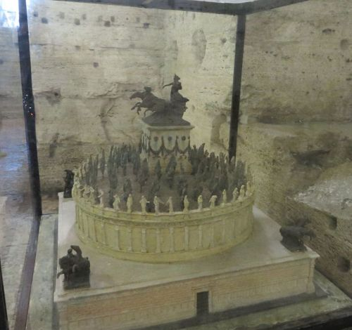 Reconstruction maquette of the Mauseoleum of Hadrian in the Castel Sant'Angelo, Rome