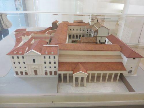Rceonstruction maquette of the Crypta Balbi in the Museo Nazionale Romano Crypta Balbi, Rome