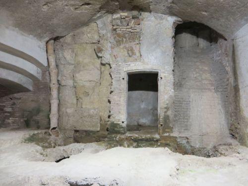 The basement (and erstwhile ceramics dump) in the Museo Nazionale Romano Crypta Balbi, Rome