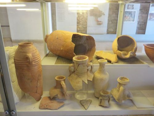 Amphorae from the erstwhile kitchen in the Museo Nazionale Romano Crypta Balbi, Rome