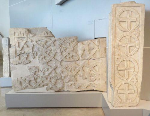 Stonework probably from the Monastero di San Lorenzo, in the Museo Nazionale Romano Crypta Balbi