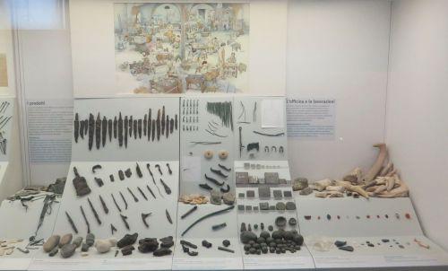 Display of material produced near the Crypta Balbi in the Museo Nazionale Romano Crypta Balbi, Rome