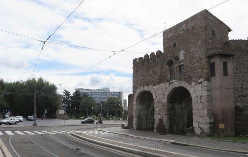 Route of the Via Marmorata past the Porta San Paolo, Rome