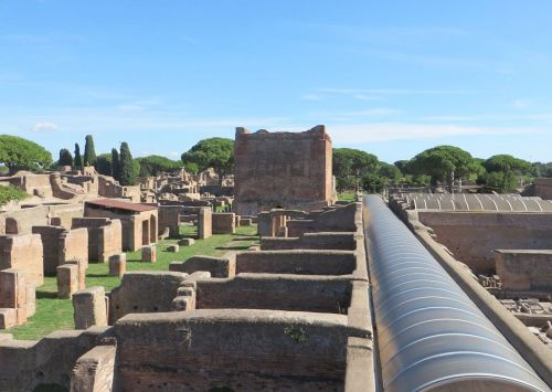 View through some of the ruins of Ostia to the Capitolium