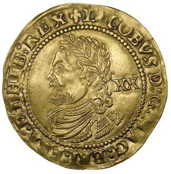 Obverse of a gold laurel of James I of England and VI of Scotland, Birmingham, Barber Institute of Fine Arts, BR0025
