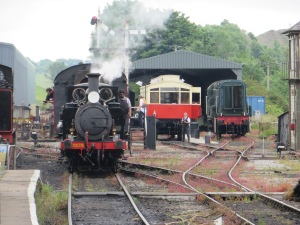 The yard at Embsay station on 27th June 2021