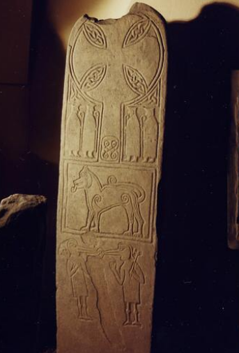 The Papil Stone in the National Museum of Scotland, Edinburgh