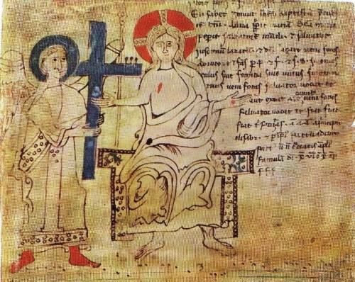 Christ enthroned from Budapest, Orszägos Széchényi K&omul;nyvtár, MNY I