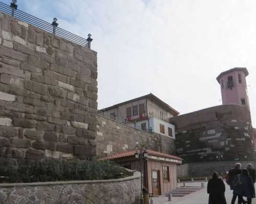 Approach to the castle of Ankara