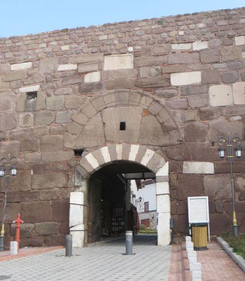 Modern entry to the Byzantine castle at Ankara