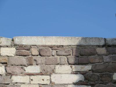 Roman tombstones built into the walls of the İç Kale, Ankara castle