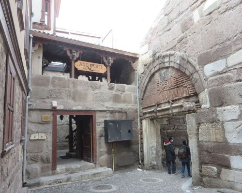 The inner portals of the İç Kale, Ankara castle