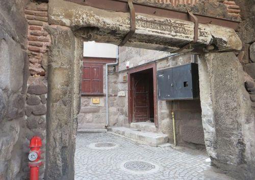 The inner side of the Parmak Kapı in Ankara castle