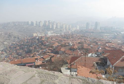 View of the city of Ankara from the İç Kale walls
